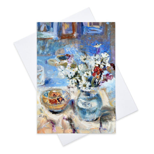 Still life art card by Judi Glover Art and made from original art in the UK