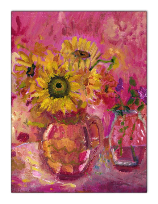Sunflowers Canvas Print. Sunflower Canvas Print made from original painting of sunflowers. Canvas Print from original art available at Judi Glover Art. Original Painting by Judi Glover. Used for Wall Art.