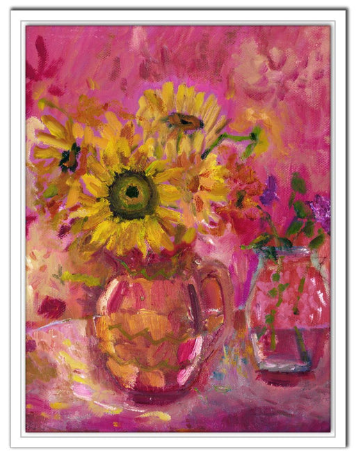 sunflowers Canvas Print. Canvas Print made from original painting of flowers. Canvas Print from original art. Available at Judi Glover Art. Original Painting by Judi Glover and used for Wall Art.
