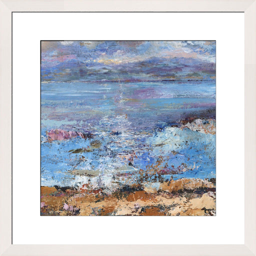 Fine Art Print. Giclee Print made from original painting of the Isle of Mull, Scotland. Framed prints from original art. Available at Judi Glover Art. Original Painting by Judi Glover. Used for Wall Art.