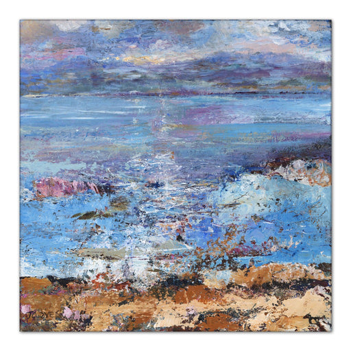isle of mull Canvas Print. Canvas Print made from original painting of the Isle of Mull in Scotland. Painting from Hebredes Island. Stretched Canvas Print from original art. Available at Judi Glover Art. Original Painting by Judi Glover. Used for Wall Art.