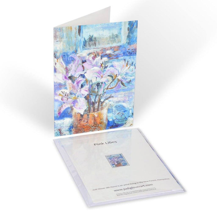 Floral Card. Fine Art card made from original art and available online at Judi Glover Art.