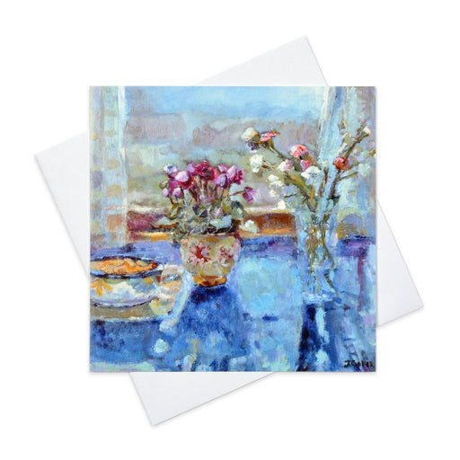 Still Life art Card with a still life setting made from original art in the UK by Judi Glover Art