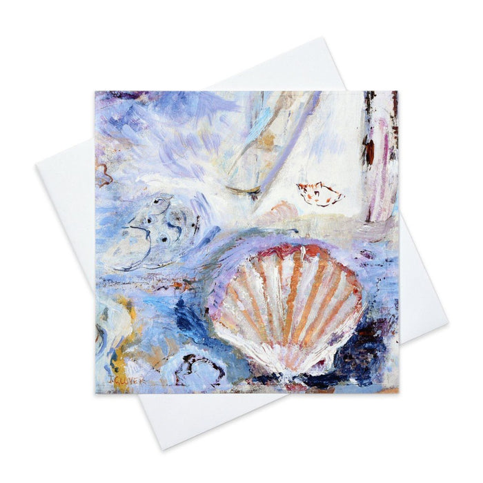 Fine Art Greeting Card made from original art painting of shells from Judi Glover Art