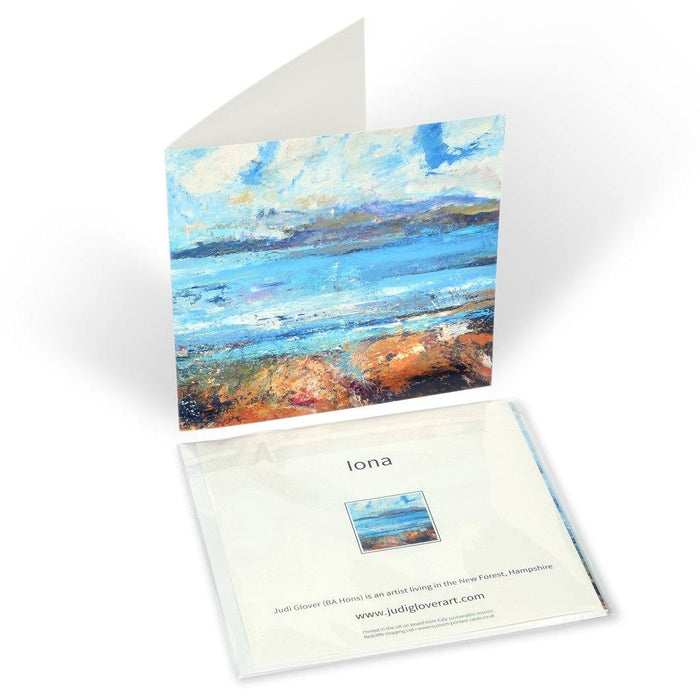 Iona greeting card. Part of a greeting card set available online at Judi Glover Art.