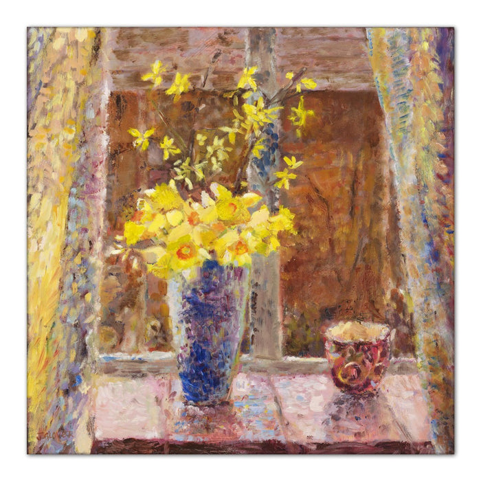 daffodil Canvas Print. Canvas Print made from original painting of Spring Daffodils to make a Daffodils Canvas Print. Framed canvas prints and stretched canvas prints from original art available at Judi Glover Art. Daffodil Painting by Judi Glover and used for Wall Art.