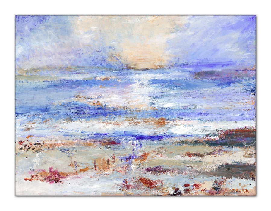 Iona Canvas Print. Fine art canvas Print from a painting of St Columba's Bay in the Isle of Iona, Hebrides, Scotland. UK Artist Print from a painting by Judi Glover Art of St Columba's Bay in the Isle of Iona