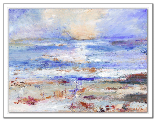 Iona Canvas Print. Fine art canvas Print from a painting of St Columba's Bay in the Isle of Iona. Hebrides. Scotland. Framed Canvas Print from an Original Painting by Judi Glover Art.