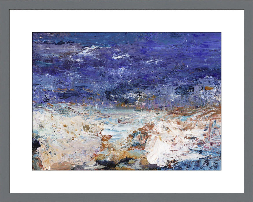 Abstract seascape Fine Art Print. Abstract seascape art print made from original art. This giclee seascape art print is available as a unframed fine art print. The fine art print is available as a framed art print. Fine Art prints from Original art by UK artist Judi Glover.