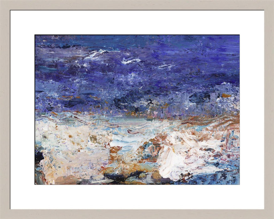 Abstract seascape Fine Art Print by Judi Glover Art. Abstract seascape art print made from original art. The seascape art print is available as a unframed fine art print. The fine art print is available as a framed art print. Fine Art prints from Original art by UK artist Judi Glover.