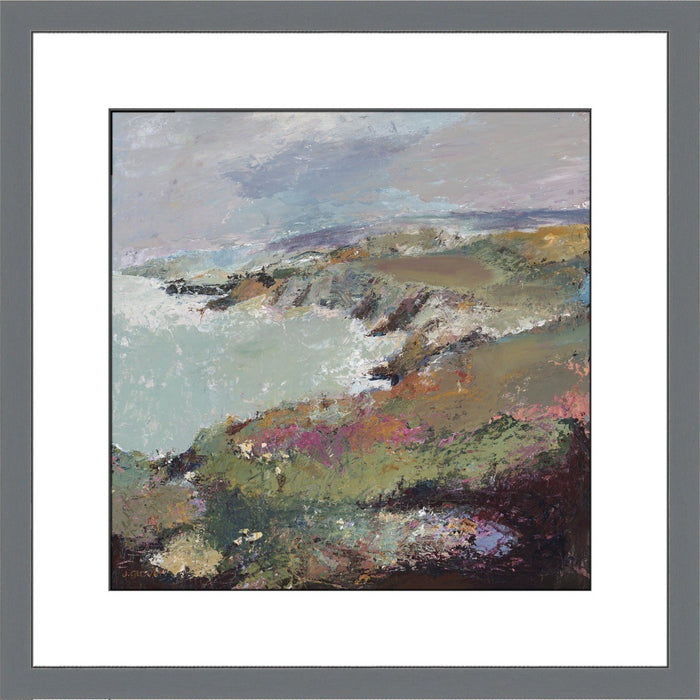 Fine Art Print from original painting of a coastal view of Porthgain, near St Davids in Wales. Coastal prints from original artwork available at Judi Glover Art. Original Painting by Judi Glover. Used for Wall Art.