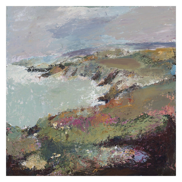 Fine Art Print. Giclee Print made from original painting of a coastal view of Porthgain, near St Davids in Wales. Framed prints from original art. Available at Judi Glover Art. Original Painting by Judi Glover. Used for Wall Art.