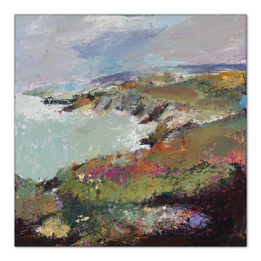 Welsh coast Canvas Print. Canvas Print made from original painting of a coastal view of Porthgain, near St Davids in Wales. Canvas prints from original art. Available at Judi Glover Art. Original Painting by Judi Glover. Used for Wall Art.