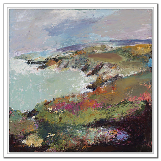 Coastal Canvas Print. Canvas Print made from original artwork of a coastal view of Porthgain, near St Davids in Wales. Canvas prints from Pembrokeshire art available at Judi Glover Art. Original Painting by Judi Glover used for coastal canvasses.