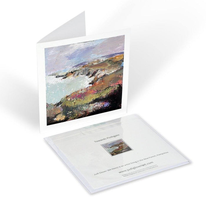 Fine Art Greeting Card of Porthgain in Pembrokeshire. Artistic Greeting Card from Original Painting by Judi Glover Art