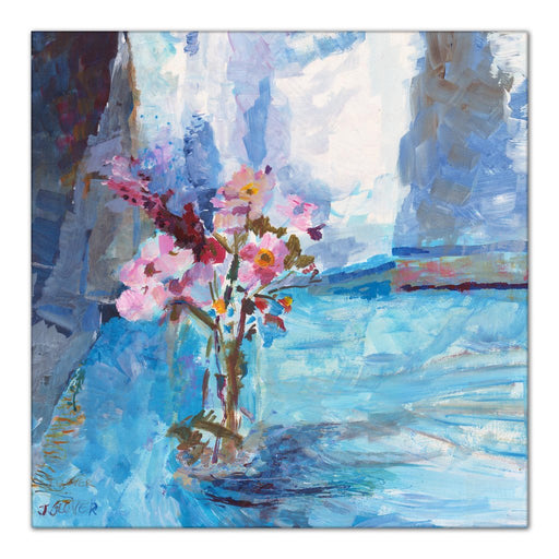 Canvas Print with Wildflowers at Judi Glover Art. The Wildflower canvas print is part of the floral canvas print collection by UK Artist Judi Glover