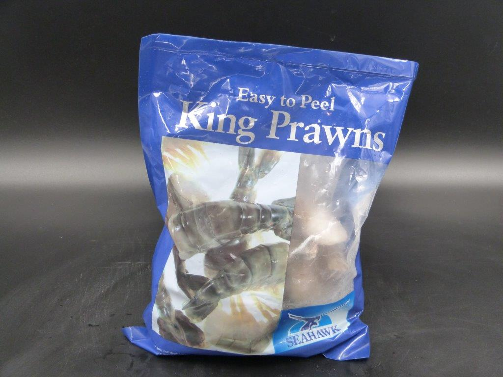 Prawn tails, king headless, shell on (32-40 per 908gm bag )