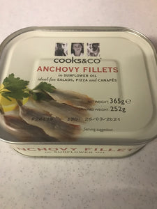 Anchovy Fillets, salted 365gr tin