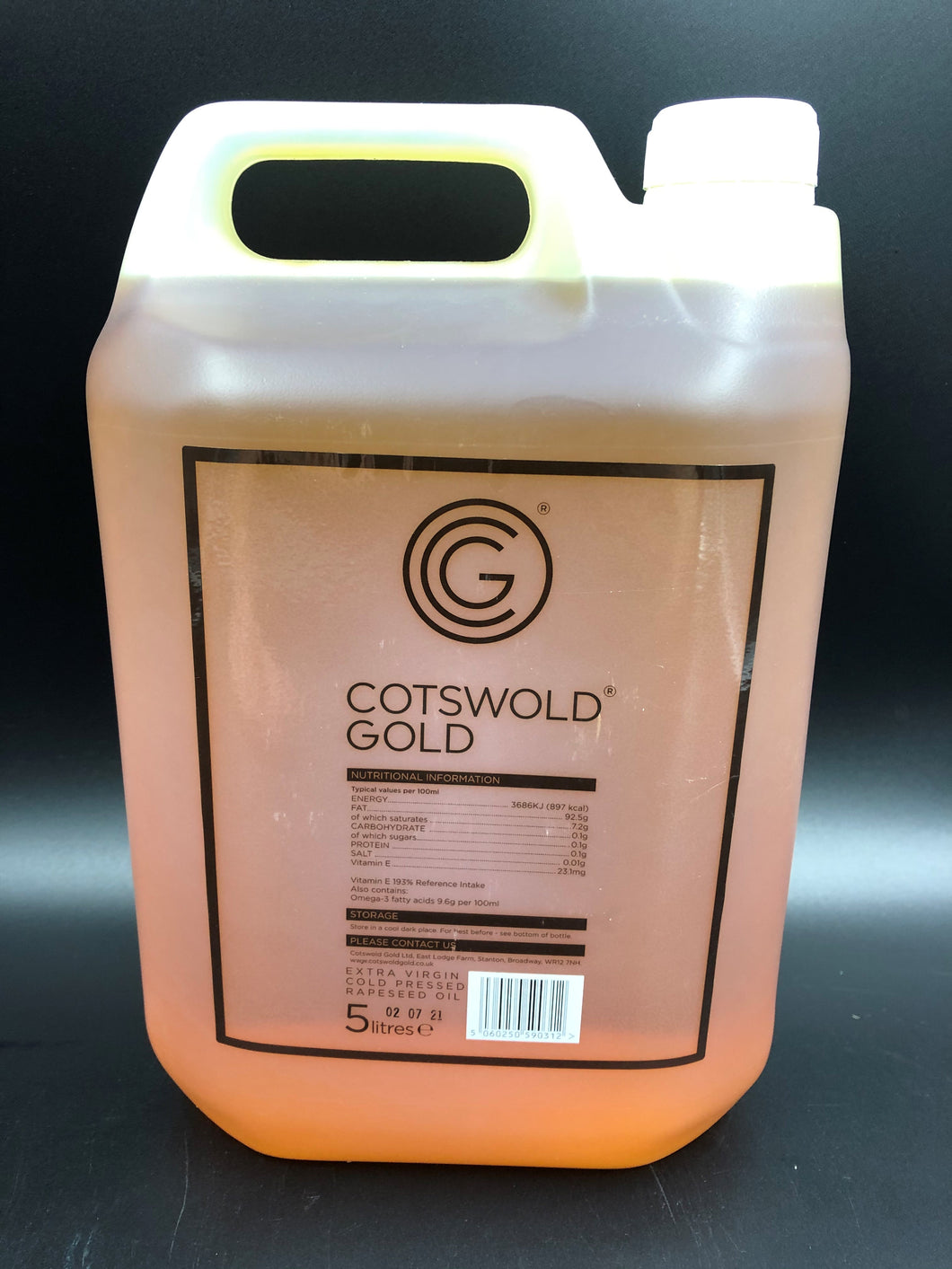 Rapeseed Oil , extra virgin Cotswold Gold ( 5L )