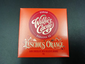 Chocolate, Willie's Cacao , Dark  with orange  (pack of 2)