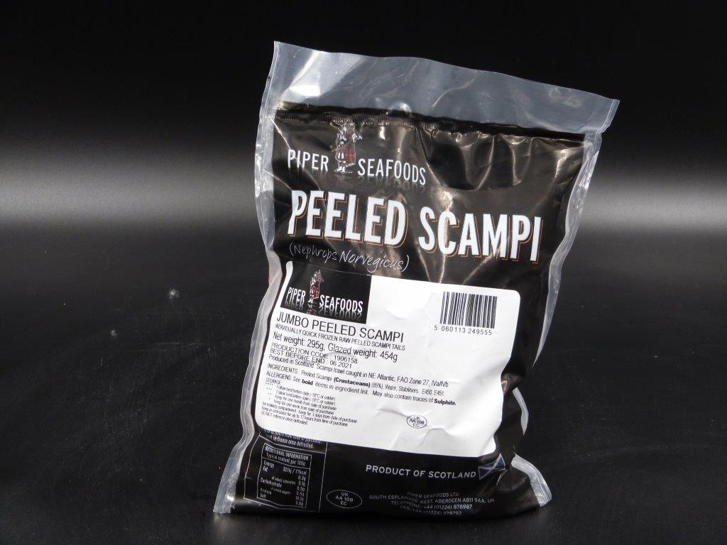 Peeled scampi tails , large