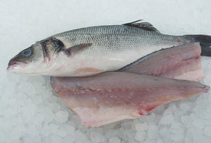 Sea bass Fillets, (fresh ) (packs of 2) from 6/800 gm fish