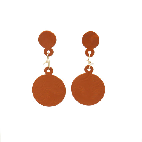 Big powder-coated earrings