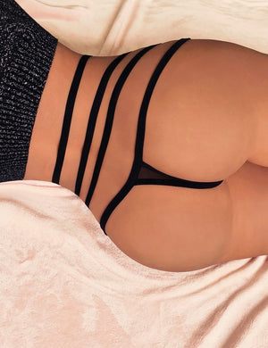 Strappy High Waist Thong - Missbodybra