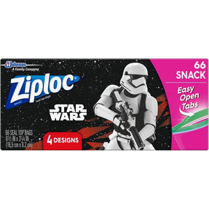 Disney Star Wars Ziploc Seal Top Snack Bags 66/Box - Dollar Max Depot
