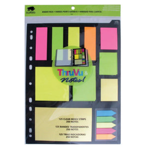 250 Sticky Notes And 125 Strip Index Tags For Binders - Dollar Max Depot
