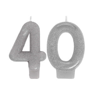 Numeral Candles Sparkle Celebration 40 - Dollar Max Depot