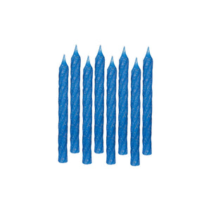 Candle Large Glitter Spiral Blue - Dollar Max Depot