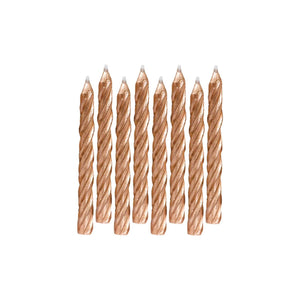 Candle Large Spiral Rose Gold - Dollar Max Depot
