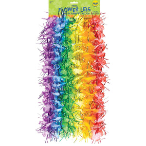Tinsel Flower Lei 6 Pack - Dollar Max Depot