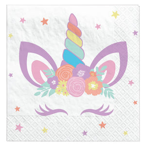 Beverage Napkins Unicorn Party - Dollar Max Depot