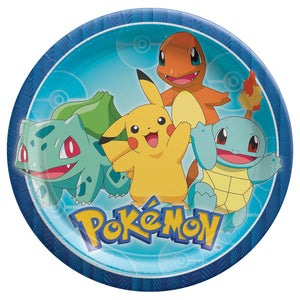 "Plate 9"" Round Pokemon Classic - Dollar Max Depot"