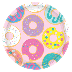 "Plate 9"" Round Donut Party - Dollar Max Depot"