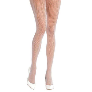 White Fishnet Adult Tights - Halloween Costume Accessories - Dollar Max Depot