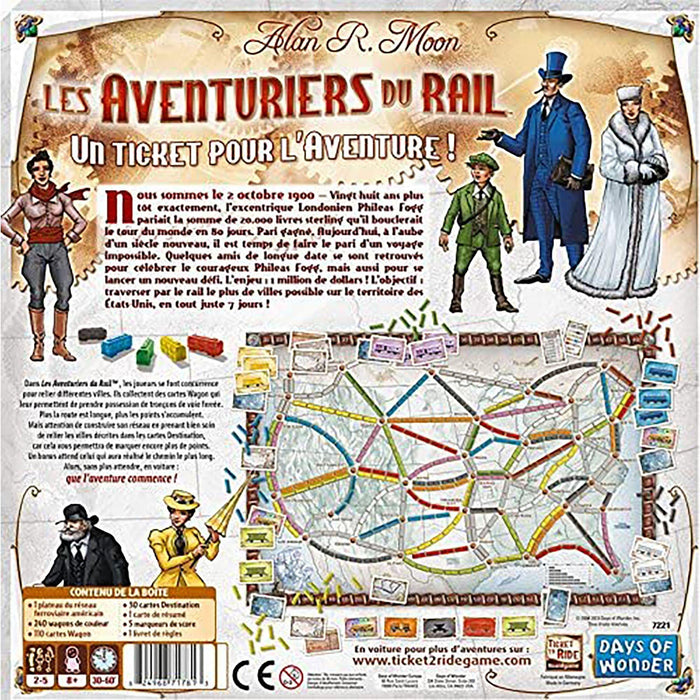 Aventuriers Du Rail (French Version) - Dollar Max Depot