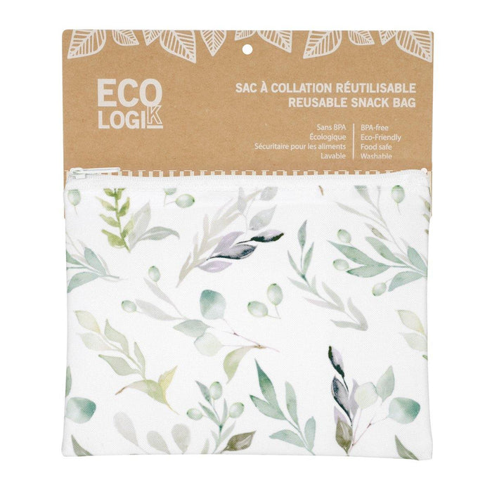 Reusable Snack Bag - Olive Branch 7 x 5'' - Dollar Max Depot
