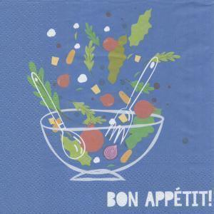 Lunch Napkins - Bon Appétit 6.5 X 6.5
