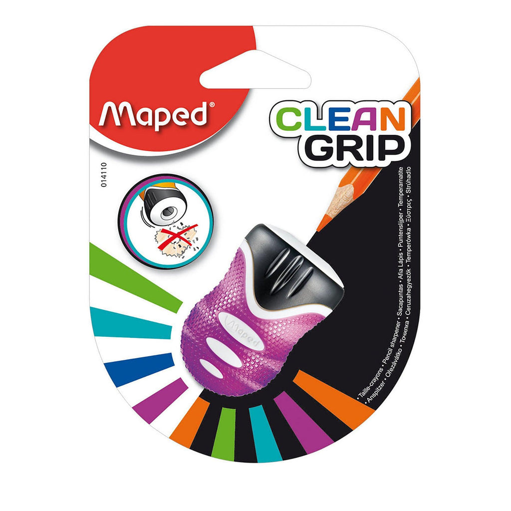Maped Pencil Sharpener Clean Grip 1Hole Blister - Dollar Max Depot