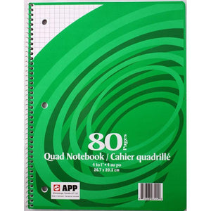Coil Exercise Book Quad 4-1 80Pg