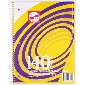 Coil Exercise Book Ruled 140Pg