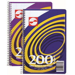 Coil Exercise Book Ruled 200Pg