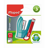 Maped Stapler Greenlogic Mini 24/6-26/6 +400 Staples 24/6 Blister - Dollar Max Depot