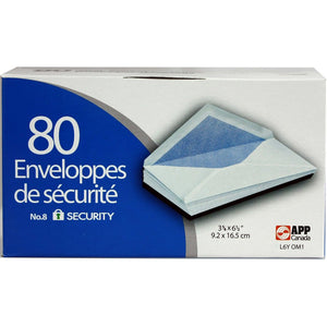 Boxed Envelopes #8 Security 80/Box - Dollar Max Depot