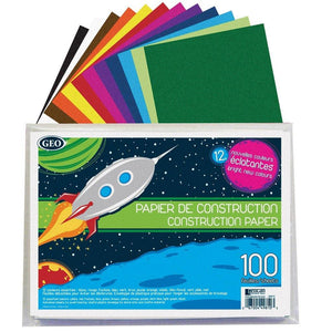 Geocan 50 Individual Sheets Construction Paper - Dollar Max Depot