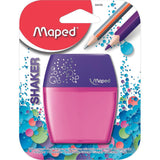 Maped Pencil Sharpener Shaker 2Holes Canister Blister - Dollar Max Depot