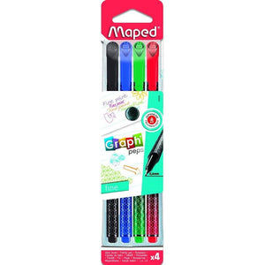 Graph Peps DéCo Fineliner 0.4Mm X4 Assorted